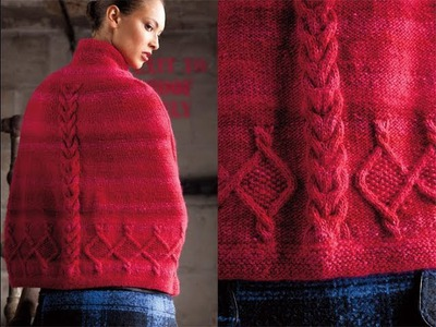 #17 Cabled Cape, Vogue Knitting Winter 2011.12