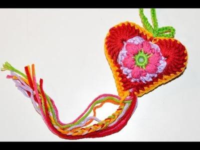 """Advent Calendar * December 17 * Crochet Heart """"Baby Flower"""""""