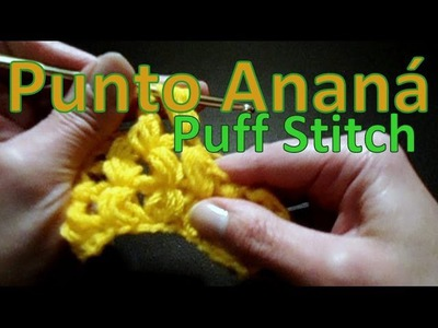 Cómo tejer punto ananá (puff stitch) - tejido para zurdos-
