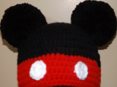 Crochet Mikey Mouse Hat
