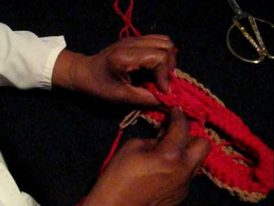 Crocheting Top of Loafer pt 6