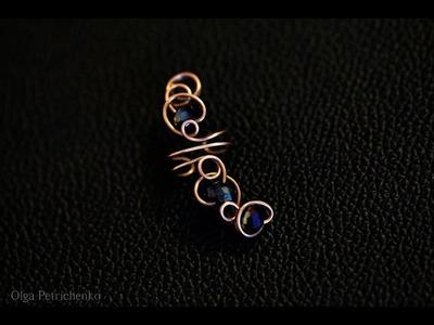 Делаем кафф из проволоки и бусин. Making Cuff made of wire and beads.