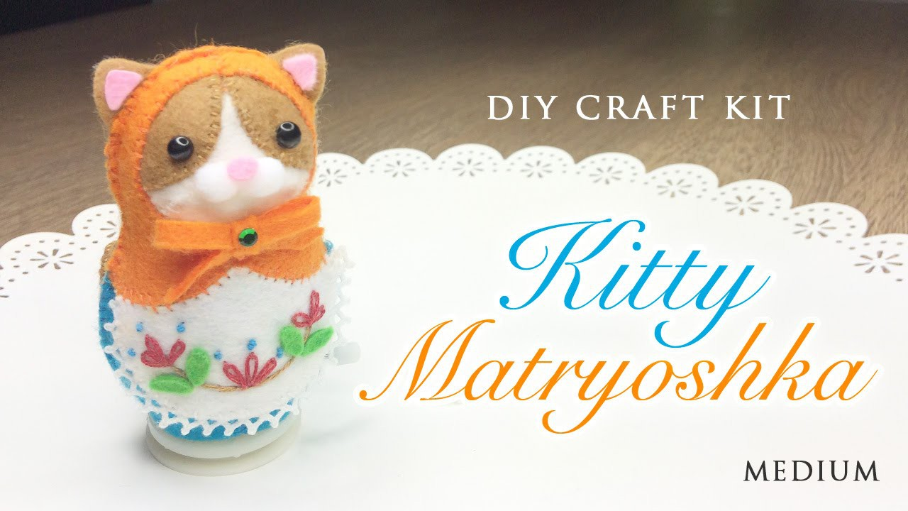 DIY Clockwork Cat Russian Doll - Japanese Sewing Craft Kit