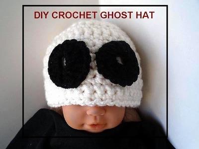 DIY CROCHET HALLOWEEN GHOST HAT
