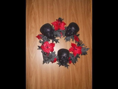 Diy halloween wreath under 5 dollars
