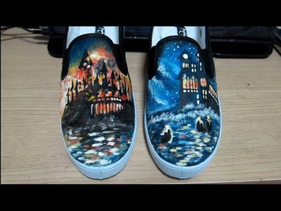 DIY Harry Potter Shoes Tutorial Part1 (Level; Medium)