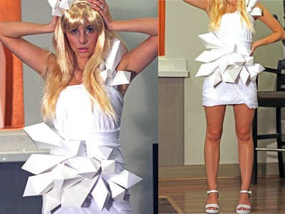 DIY Lady Gaga Origami Dress