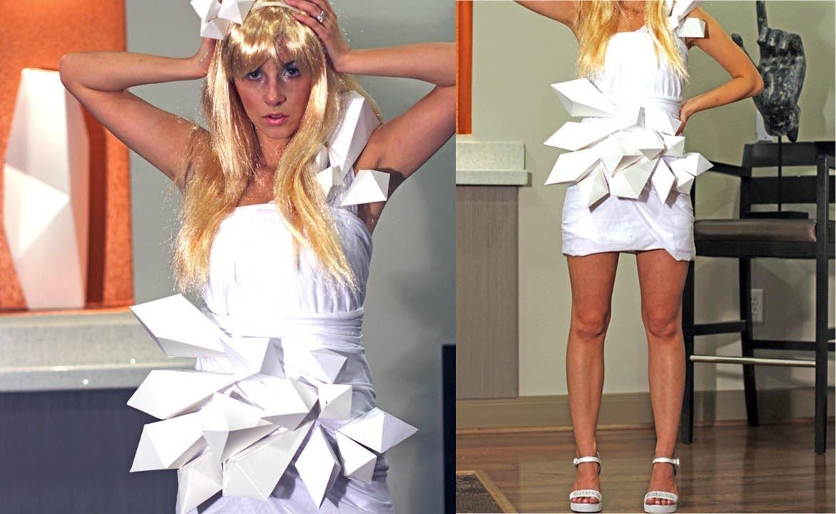 DIY Lady Gaga Origami Dress