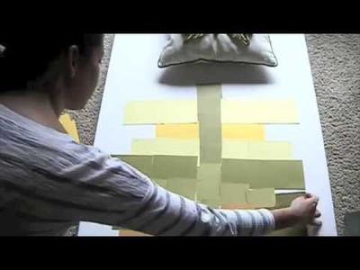 DIY PAINT CHIP ART tutorial