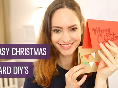 Fancy (but easy!) DIY Christmas cards | CharliMarieTV