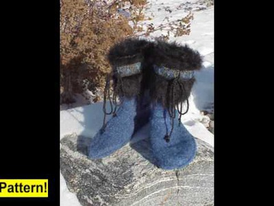 Felted Slipper Boots Pattern -from Recycled Sweaters!