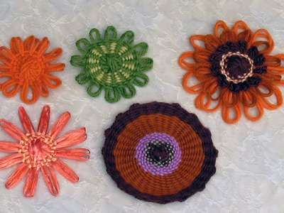 Flower Looms - Single Woven Flowers in Three Styles