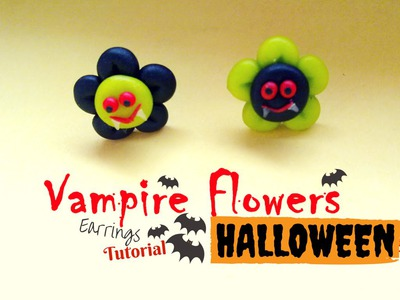 Halloween DIY: Vampire Flowers Earrings  ✿ Fiori Vampiro - Jewerly Tutorial