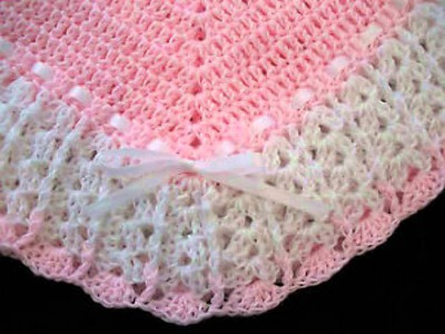 Handmade Crochet Cotton Baby Blanket