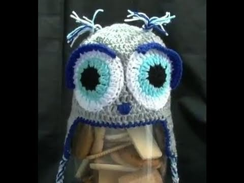How to Crochet a Owl beanie Part 2 of 2 - Pattern Designed by Brooke Till
