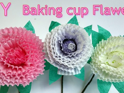 How to make Baking cup flowers - Ana DIY crafts