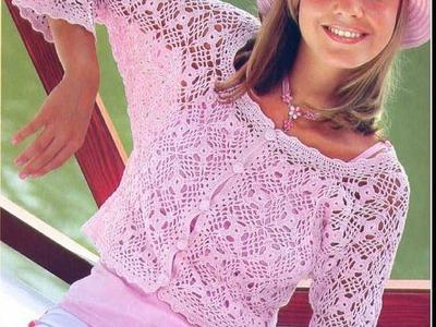 Квадратный мотив  крючком для жакета.Square motif crochet