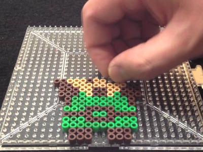 Link with Triforce Legend of Zelda NES Perler Bead Sprite