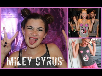 Miley Cyrus VMA Tutorial - Hair, Makeup, and DIY Costume!