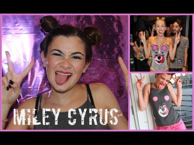 Miley Cyrus VMA Tutorial - Hair, Makeup, and DIY Costume!