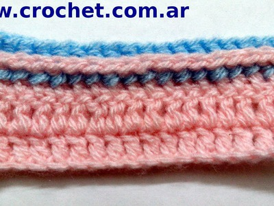 Punto Relieve por atrás en tejido crochet tutorial paso a paso.