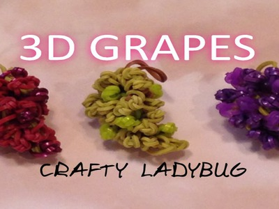 Rainbow Loom 3D GRAPES EASY Charm Tutorial by Crafty Ladybug. Wonder Loom, DIY LOOM