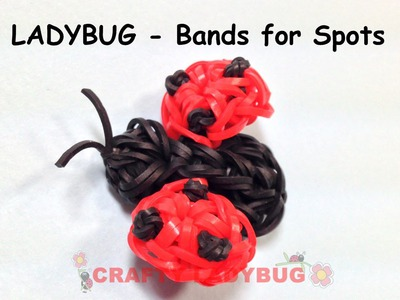 Rainbow Loom Band 3D CUTE LADYBUG WITH BANDS Advanced Charm Tutorials by Crafty Ladybug.How to DIY