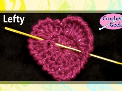 Simple Crochet Heart - Left Hand -  Crochet Geek