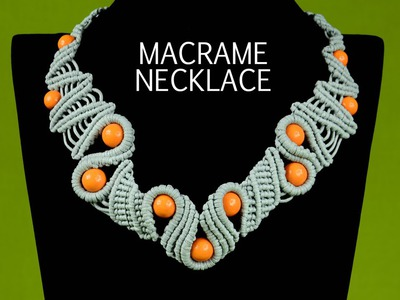 Snaky Macramé Necklace Tutorial