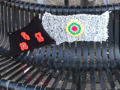The Knit Wits yarn bomb Wolverton