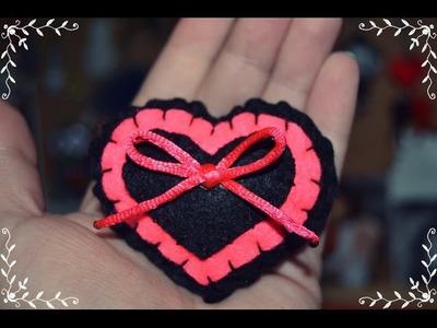 Tutorial DIY : ♥ Broche de corazón trapeado (fieltro) ♥ FACIL
