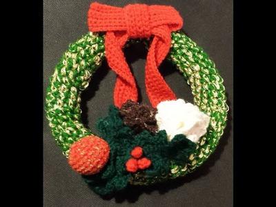 Tutorial ghirlanda natalizia all'uncinetto amigurumi -  corona de Navidad - Christmas wreath crochet