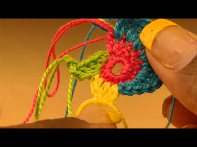 Tutorial-Multi colored Spiral Crochet Earring