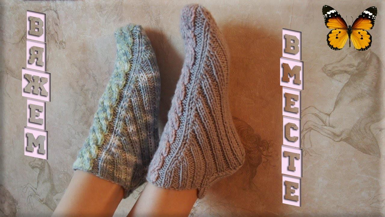 Видео вязание носков 2 спицами