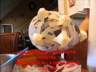 Como hacer alcancias de cochinitos, how to make piggy bank