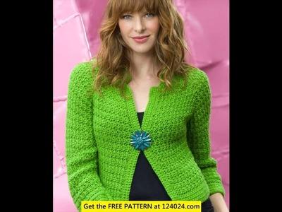 Crochet cardigan sweater pattern