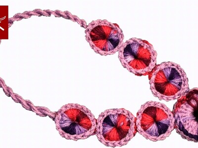 Crochet Medallion Yarn Necklace Crochet Geek