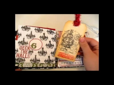 December Daily Christmas Scrapbook Mini Album
