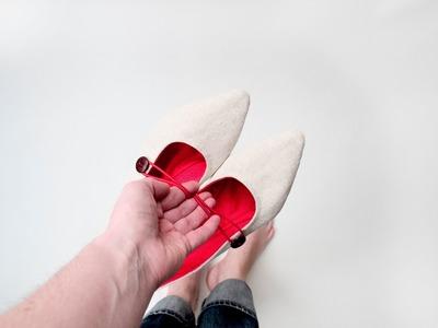 DIY ballerina shoes