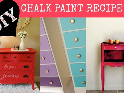 DIY CHalk Paint Recipe 2