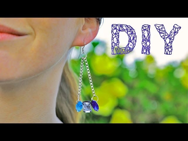 DIY Fashion | Delicate Crystal Earrings | Designer DIY