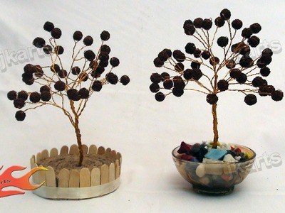 DIY How to make Rudraksha Wire Tree - JK Arts 100