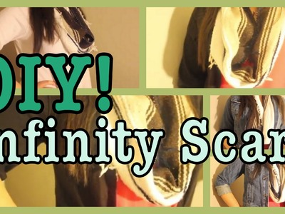 DIY: Infinity Scarf! *No-Sew*    Urban Outfitters