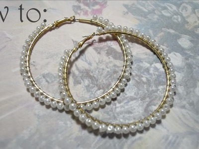 DIY : Pearl earrings