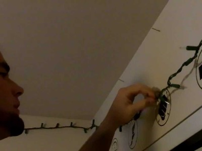 Dorm DIY - How to Create Custom Dorm Lighting with Christmas Lights and a Dimmer