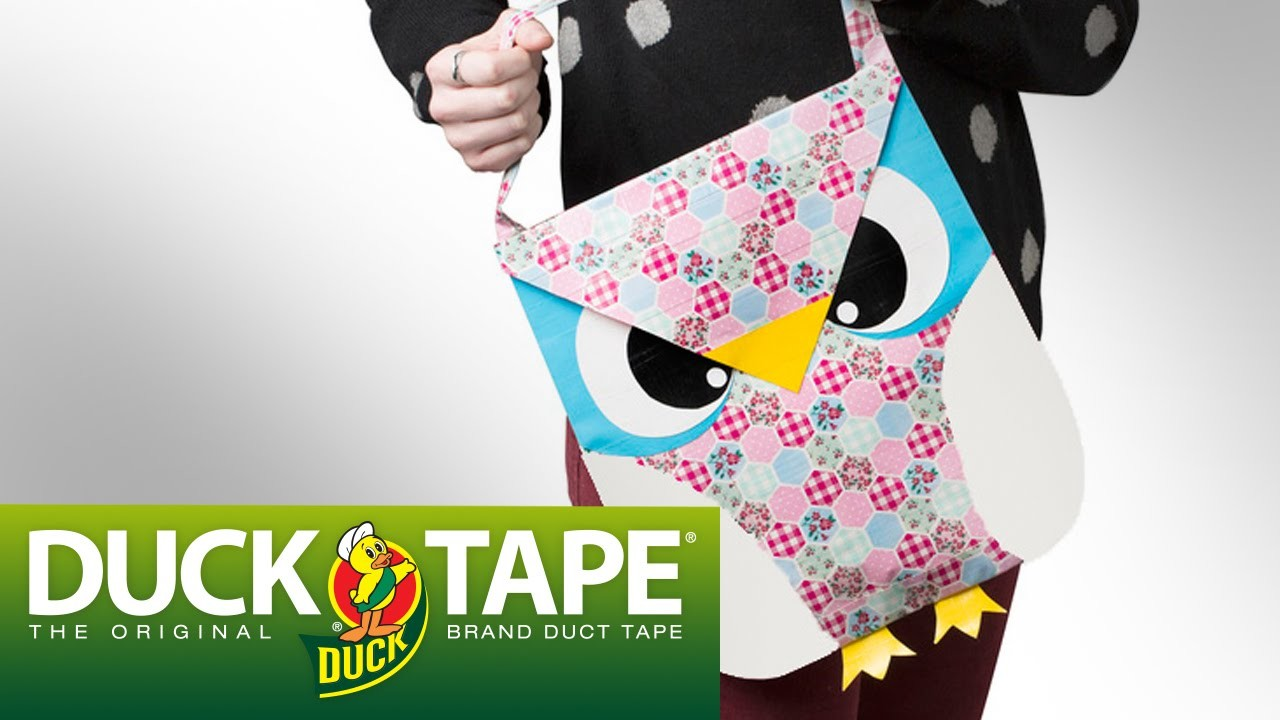 Duck Tape Crafts: How to Make an Owl Tote with LaurDIY