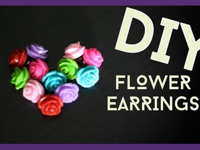"Easy ""DIY"" Flower ""Earring"" Tutorial!"
