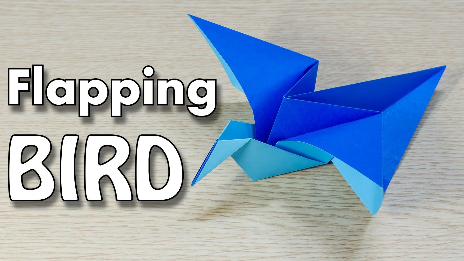 Flapping Bird Origami : easy and simple Tutorial