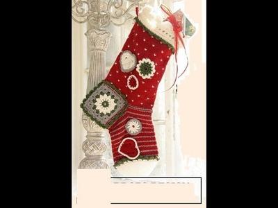 Full Size Crochet Christmas Holiday Stocking Crochet