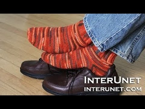 How to crochet men's socks - beginner's friendly stitch
